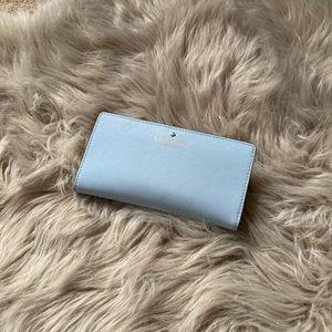 Light blue kate spade snap wallet